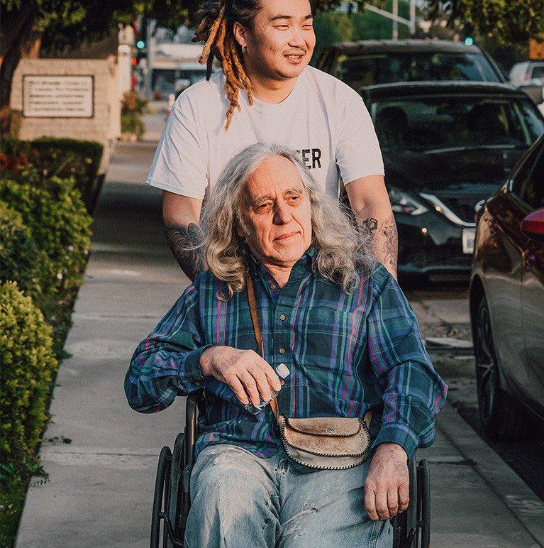 Dziadek z wnuczką